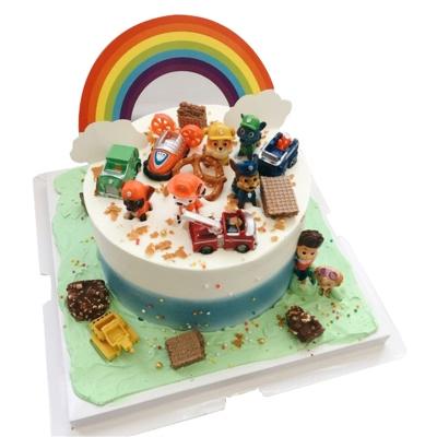 圆形卡通蛋糕图片