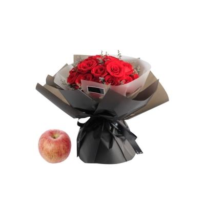苹果+19支精品红玫瑰图片