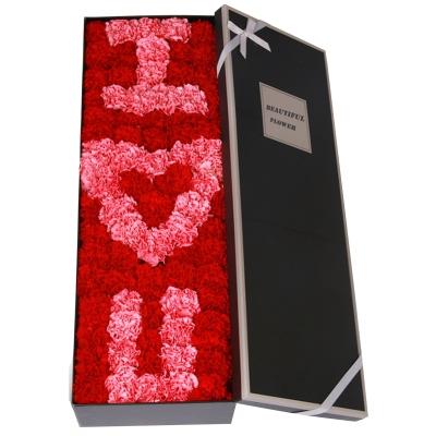 99朵康乃馨礼盒花图片