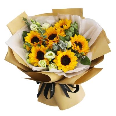 8朵向日葵花束图片