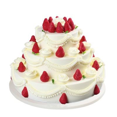 8寸+12寸+16寸圆形水果蛋糕图片