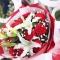 11枝红康乃馨 2枝多头白百合图片