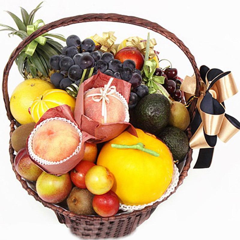 时令水果果篮图片