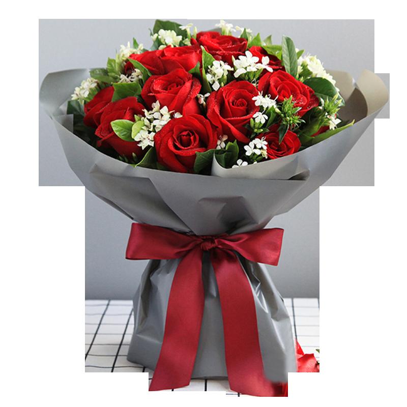 红玫瑰19枝图片