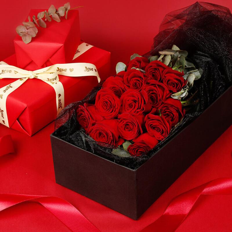 19枝精品红玫瑰,礼盒款图片