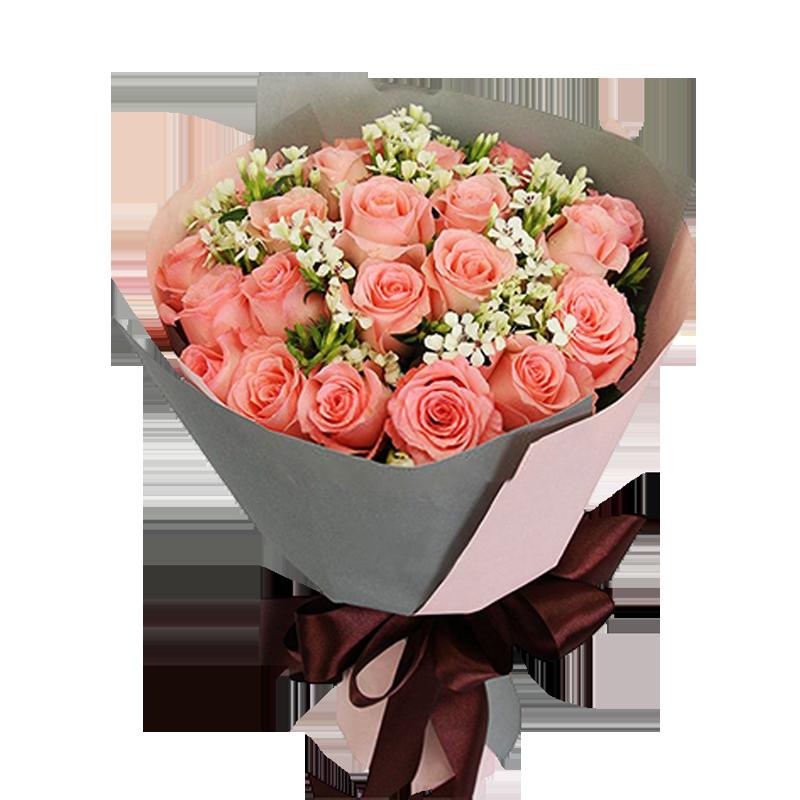 21朵粉玫瑰图片