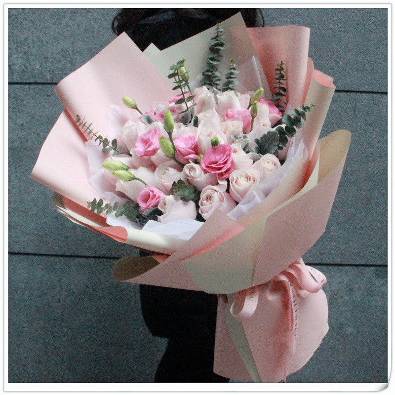 21支粉雪山玫瑰图片
