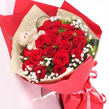 19枝玫瑰花/红玫瑰