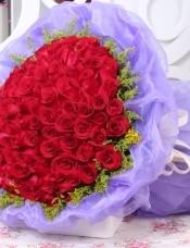 99支红玫瑰,黄莺搭配