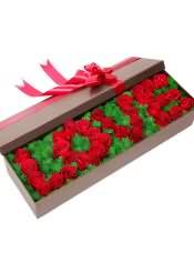 33支精品红玫瑰,搭配天门冬