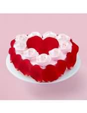 口味:玫瑰奶油味(原味蛋糕坯+玫瑰慕斯+乳脂奶油)