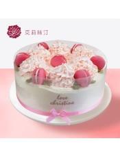 稀奶油蛋糕:由马卡龙、稀奶油、绵密草莓蛋糕等制作