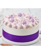蛋糕图片:紫芋布丁