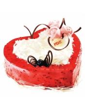 白巧克力的柔滑配上覆盆子酱的微酸味道,妆点上粉红色的玫瑰与翩翩的蝴蝶