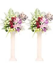 精品红玫瑰、多头粉百合、浅绿色洋桔梗,搭配适量散尾葵、巴西叶、栀子叶、剑叶、剑兰,类型 :单个花篮