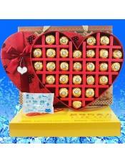 【快递】费列罗巧克力 中秋教师节礼盒装 心形27生日礼物进口