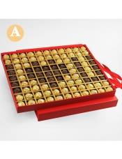 【快递】费列罗巧克力 99颗 天长地久 礼盒装七夕情人节