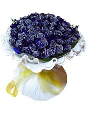 66枝蓝玫瑰。