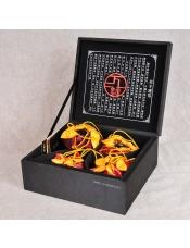 【建窑陶瓷研究所】无为而乐茶具七件组(黑)