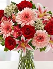 玫瑰,太阳花,百合,六出花,米花相结合