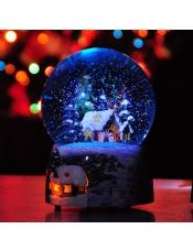 圣诞屋下雪屋水晶球