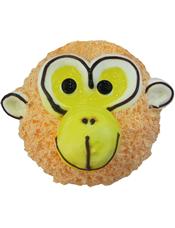 小猴形状的奶油蛋糕。(该款为艺术蛋糕,请提前咨询客服是否能做)