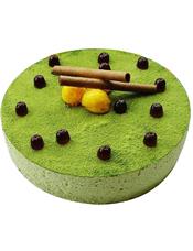 圆形抹茶蛋糕