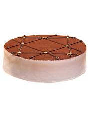 提拉米苏蛋糕,巧克力酱描线 (请提前2-3天以上预定,并咨询客服人员所送地区能否制作)